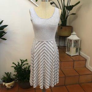 Calvin Klein   Striped Knee Length Dress